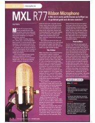 MXL R77 Classic Ribbon Microphone / Sound On Sound magazine