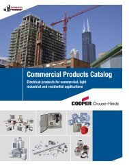 Commercial Products Catalog - Cooper Crouse-Hinds