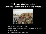 Cultural Awareness: Lessons Learned and A Way Forward (local ...