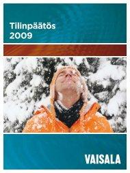 Tilinpäätös 2009 - Vaisala
