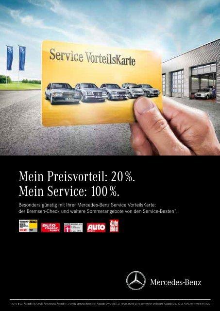 sommerangebote pkw mit service vorteilskarte - mercedes-benz
