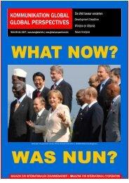 KOMMUNIKATION GLOBAL   GLOBAL PERSPECTIVES - Nr.   No ...