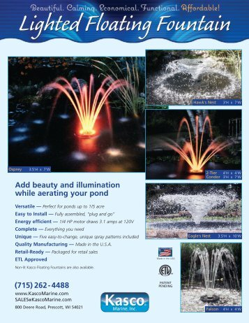 Add Beauty And Illumination While Aerating Your ... - Pondliner.com