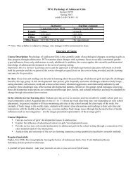 P474: Psychology of Adolescent Girls Section 28735 Spring 2013 1 ...
