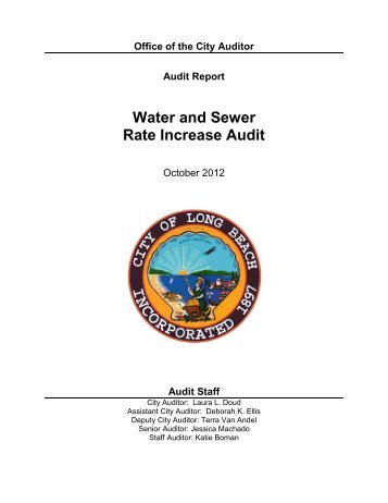 Water and Sewer Rate Increase Audit - Long Beach City Auditor