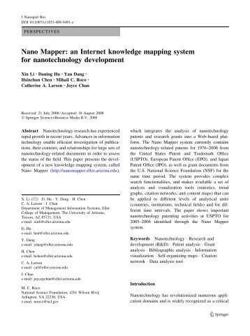 Nano Mapper - Artificial Intelligence Laboratory - University of Arizona