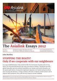 Stopping the boats? - Asialink - University of Melbourne