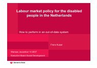 Labour market policy for the disabled people in the Netherlands