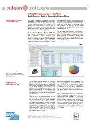 CIDEON Cost Analytics - CIDEON Software
