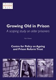 Growing Old in Prison: A Scoping Study on Older Prisoners
