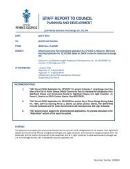 Staff Report - Official Community Plan Amendment Application No ...