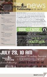 July 18 - July 28 - Federated Fellowship Church