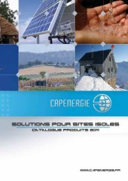 Solutions pour sites isoles - Cap Energie