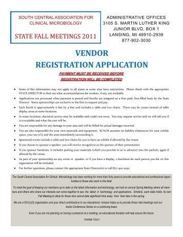 vendor registration application - South Central Association for ...
