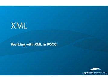 Working with XML in POCO.