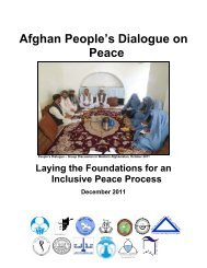 Afghan People's Dialogue on Peace - Afghanistan Independent ...