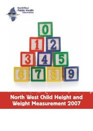 North West Child Height and Weight Measurement 2007 - National ...