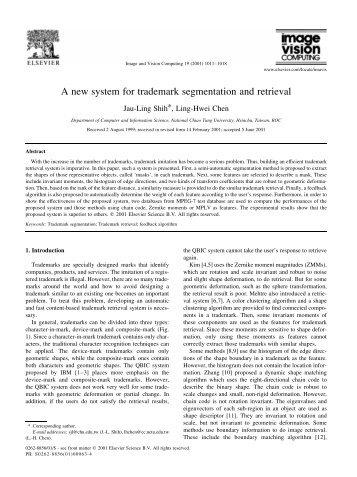 A new system for trademark segmentation and retrieval