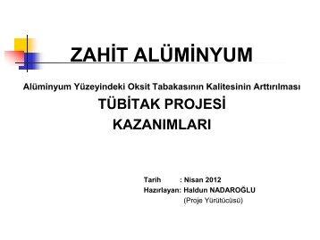 Haldun Nadaroğlu - Zahit Alüminyum