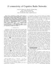 K-connectivity of Cognitive Radio Networks