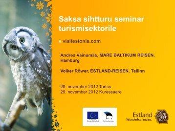 Mis huvitab saksa turisti Eestis?