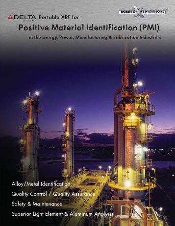 Portable XRF for Positive Material Identification (PMI) - Epsilon NDT