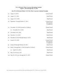 Men's Lacrosse Recruiting Calendar2014