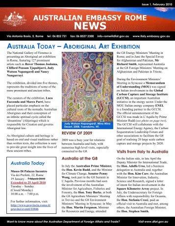 Newsletter 1 - Australian Embassy