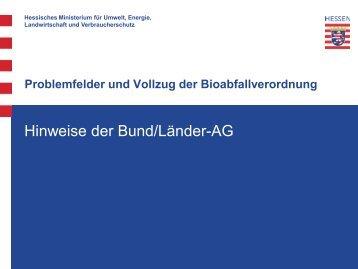 Problemfelder und Vollzug der Bioabfallverordnung - Witzenhausen ...