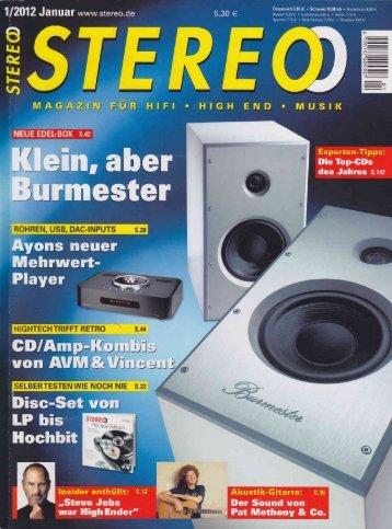 Stereo Fachzeitschrift - Kilchenmann