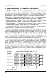 4. Implementácia bázy dát v informačných systémoch - Hornad