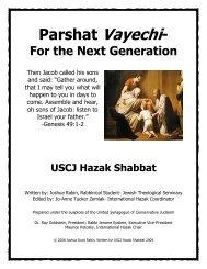 Hazak Shabbat Manual PDF - United Synagogue of Conservative ...