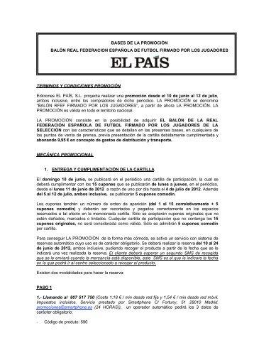 BASES DE LA PROMOCIÓN BALÓN REAL FEDERACION ... - El País