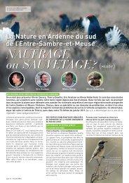 La nature du Sud de l'Entre-Sambre-et-Meuse - Natagora