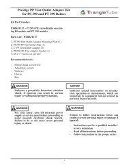PPrestige Vent Outlet Adap Kit PS399 & PT399 ... - Triangle Tube