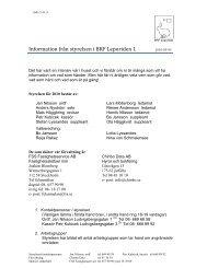 Information från styrelsen i BRF Leporiden 1 2010‐05‐05