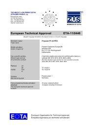 European Technical Approval ETA-11/0446 - bei Powers Europe