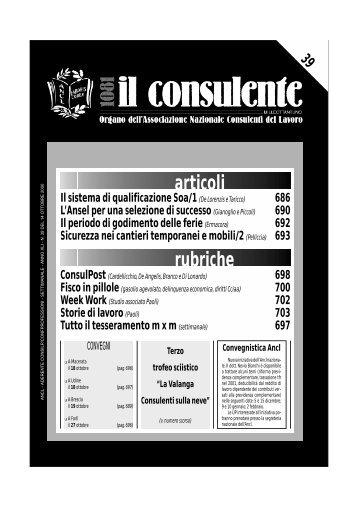 N. 39 del 14 ottobre 2000 - Ancl