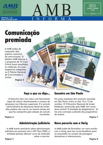 Comunicação premiada - AMB