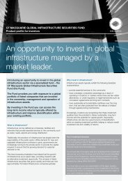 An opportunity to invest in global infrastructure ... - Macquarie