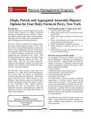 Single, Paired, and Aggregated Anaerobic Digester Options for Four ...