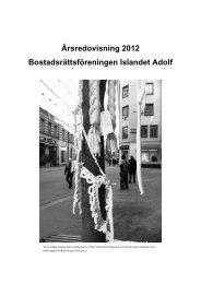 Årsredovisning för år 2012.pdf - Brf Islandet Adolf