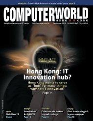Hong Kong: IT innovation hub? - enterpriseinnovation.net