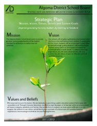 Strategic & Board Improvement Plan 2011 / 2012 - Algoma District ...