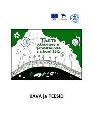 2012 kava ja teesid - Arheoloogia Tartu Ülikoolis