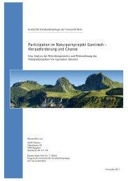 Partizipation im Naturparkprojekt Gantrisch – Herausforderung und ...