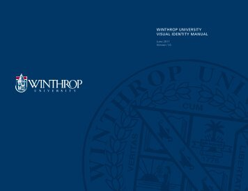 Winthrop University visUal identity ManUal