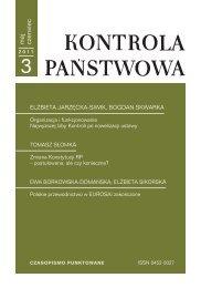 """""""Kontrola Państwowa"""" nr 3/2011 - Najwyższa Izba Kontroli"""
