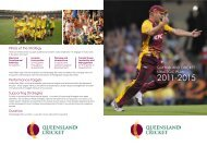 please click here - Queensland Cricket