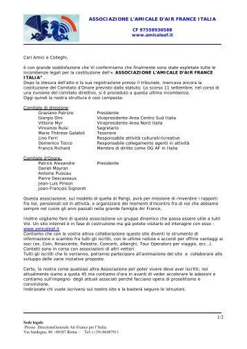 ASSOCIAZIONE L'AMICALE D'AIR FRANCE ITALIA - Amicaleaf.it
